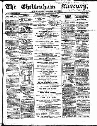 cover page of Cheltenham Mercury published on May 16, 1868
