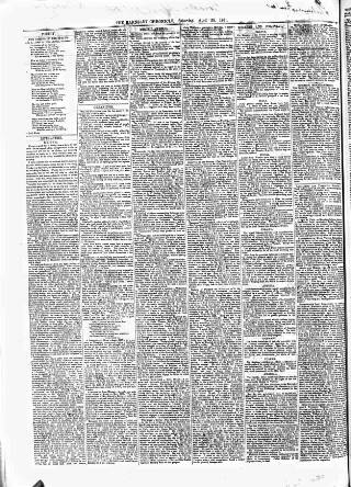 cover page of Barnsley Chronicle, etc. published on April 20, 1861