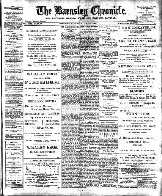 cover page of Barnsley Chronicle, etc. published on June 22, 1907
