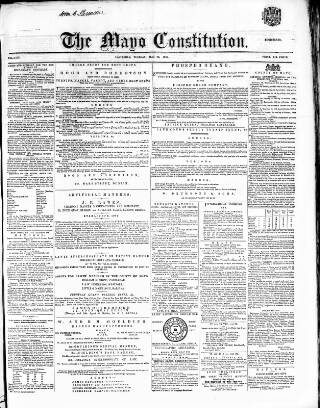 cover page of Mayo Constitution published on May 29, 1866