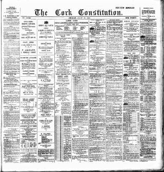 cover page of Cork Constitution published on July 16, 1886