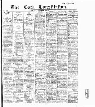 cover page of Cork Constitution published on February 19, 1887