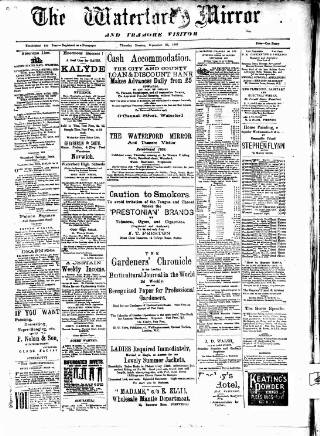 cover page of Waterford Mirror and Tramore Visitor. published on September 26, 1907