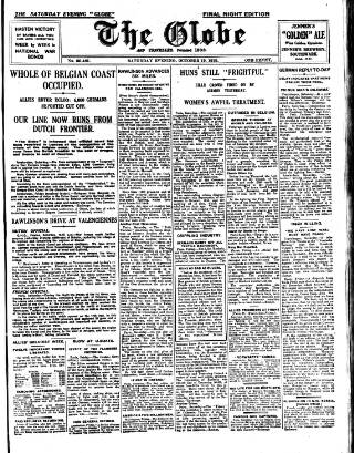 cover page of Globe published on October 19, 1918