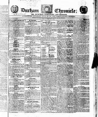 cover page of Durham Chronicle published on February 21, 1824