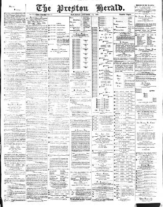 cover page of Preston Herald published on October 19, 1889