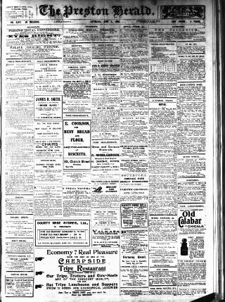 cover page of Preston Herald published on June 3, 1916