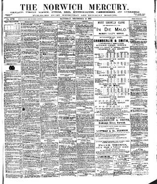 cover page of Norwich Mercury published on December 10, 1887