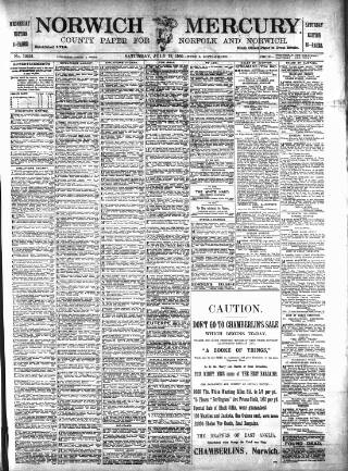 cover page of Norwich Mercury published on July 19, 1902