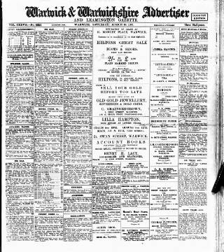 cover page of Warwick and Warwickshire Advertiser published on March 19, 1932