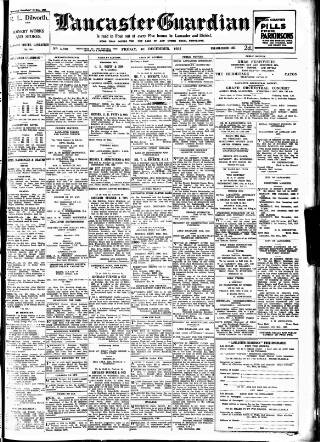 cover page of Lancaster Guardian published on December 10, 1937