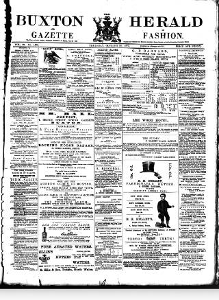 cover page of Buxton Herald published on October 18, 1877