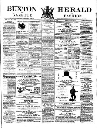 cover page of Buxton Herald published on December 19, 1878