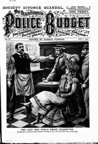 cover page of Illustrated Police Budget published on July 1, 1899