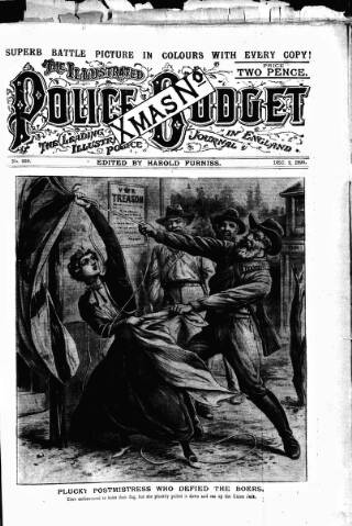 cover page of Illustrated Police Budget published on December 2, 1899