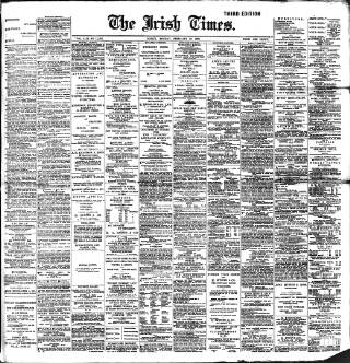 cover page of Irish Times published on February 19, 1900