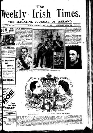 cover page of Weekly Irish Times published on May 18, 1907