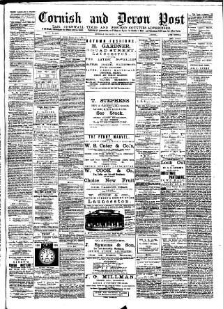cover page of Cornish & Devon Post published on December 17, 1892