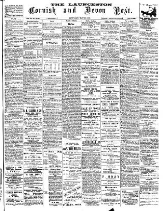 cover page of Cornish & Devon Post published on May 17, 1902