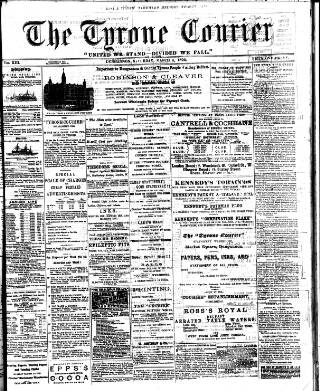 cover page of Tyrone Courier published on February 25, 1893