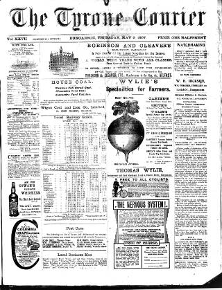 cover page of Tyrone Courier published on May 9, 1907