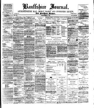cover page of Banffshire Journal and General Advertiser published on October 18, 1898