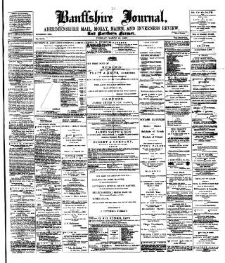 cover page of Banffshire Journal and General Advertiser published on March 19, 1907