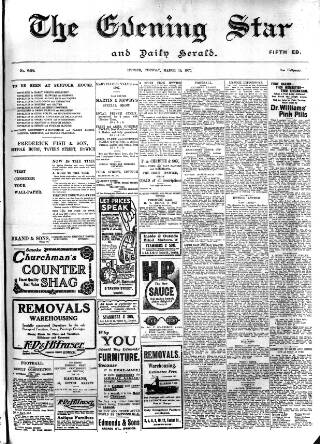 cover page of Evening Star published on March 19, 1907