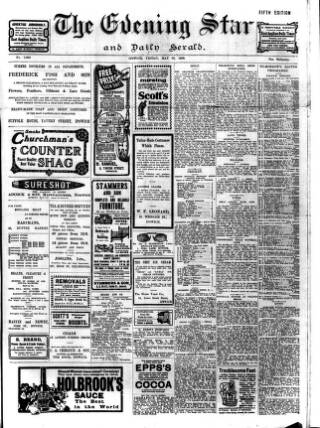 cover page of Evening Star published on May 29, 1908