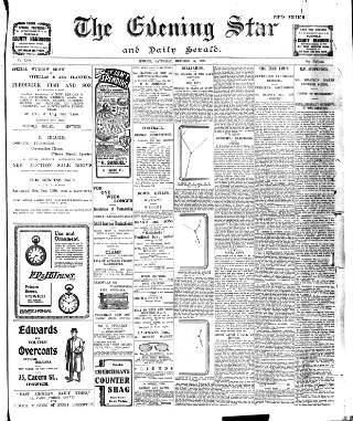 cover page of Evening Star published on October 17, 1908
