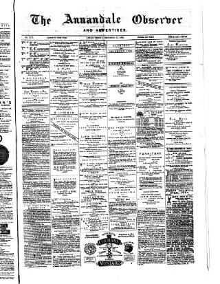 cover page of Annandale Observer and Advertiser published on December 17, 1880