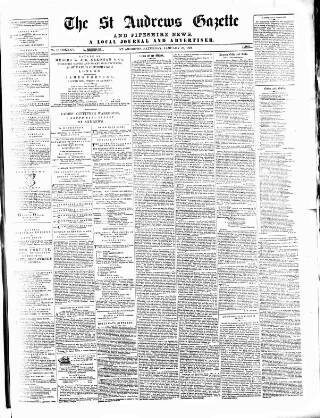 cover page of St. Andrews Gazette and Fifeshire News published on January 28, 1871