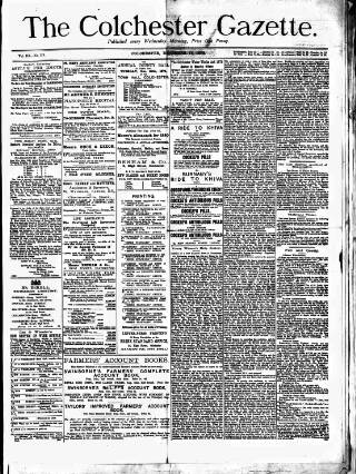 cover page of Colchester Gazette published on December 17, 1879