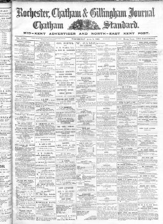 cover page of Rochester, Chatham & Gillingham Journal published on April 1, 1908