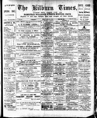 cover page of Kilburn Times published on April 24, 1903