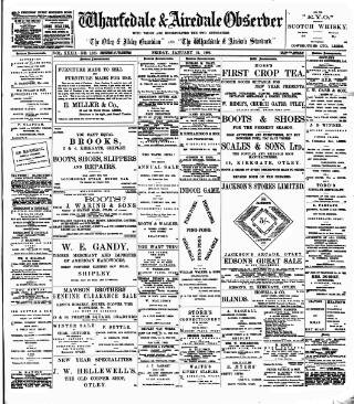 cover page of Wharfedale & Airedale Observer published on January 24, 1902