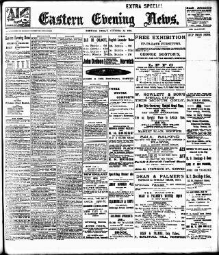 cover page of Eastern Evening News published on October 20, 1905