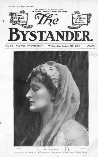 cover page of The Bystander published on August 23, 1905