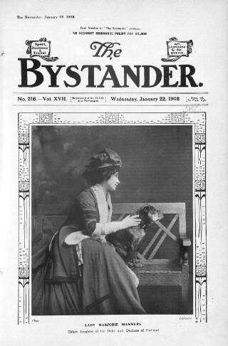 cover page of The Bystander published on January 22, 1908