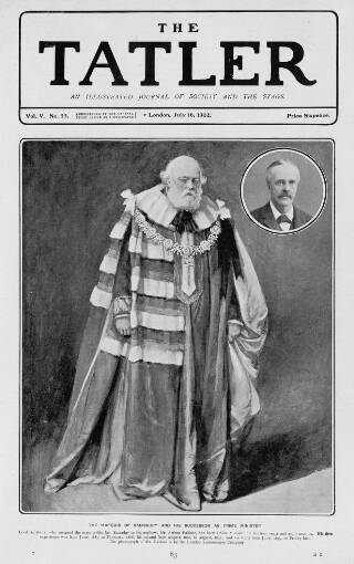 cover page of The Tatler published on July 16, 1902