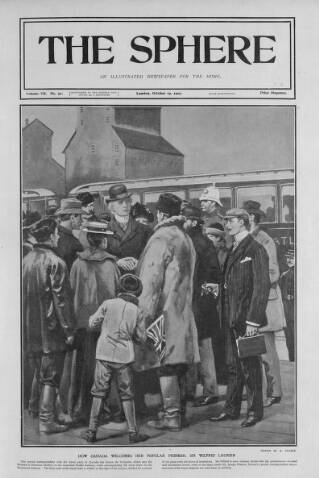 cover page of The Sphere published on October 19, 1901