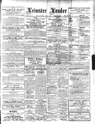 cover page of Leinster Leader published on June 3, 1944
