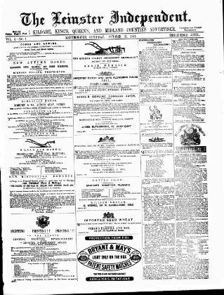 cover page of Leinster Independent published on October 21, 1871