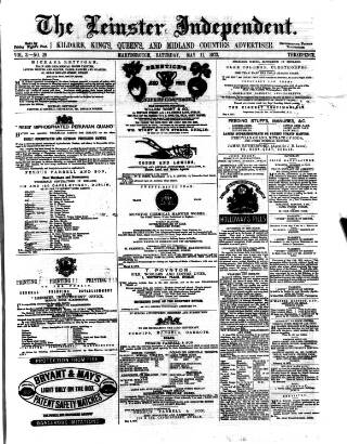 cover page of Leinster Independent published on May 11, 1872