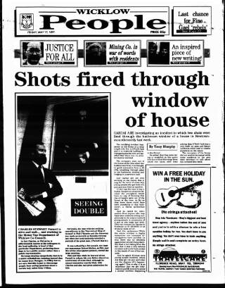cover page of Wicklow People published on May 17, 1991