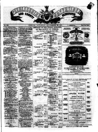 cover page of Peeblesshire Advertiser published on September 20, 1879