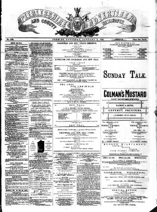 cover page of Peeblesshire Advertiser published on January 3, 1885