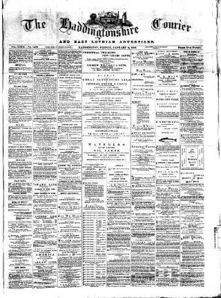 cover page of Haddingtonshire Courier published on January 6, 1888