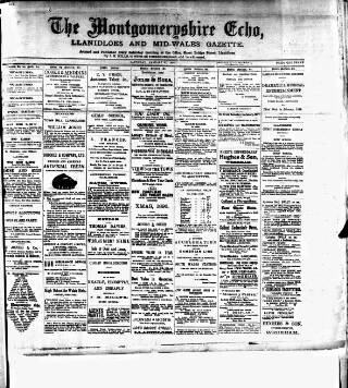 cover page of Montgomeryshire Echo published on January 23, 1897