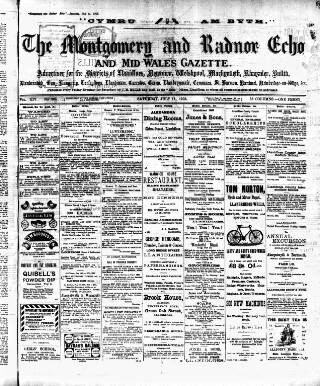 cover page of Montgomeryshire Echo published on July 11, 1903